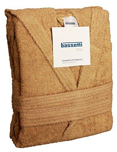 Bassetti Time Bademantel mit Kapuze, Unisex, erhältlich in den Größen S, M, L, XL, XXL, Material: Mikrofrottee aus 100% Baumwolle, 360g/m² XXL - 58 / 60 CORDA - 1606