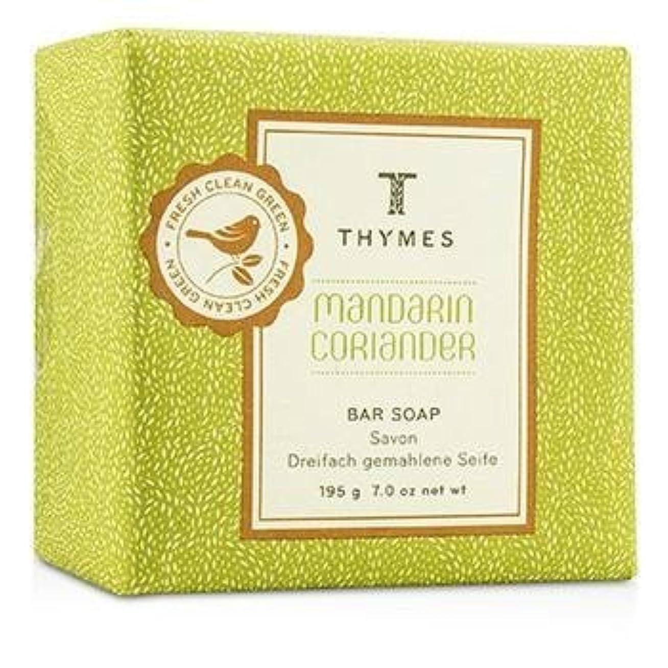 九時四十五分テクニカル何かThymes Mandarin Coriander Bar Soap 195g/7oz