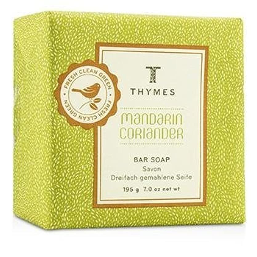 繁雑チョーク規範Thymes Mandarin Coriander Bar Soap 195g/7oz