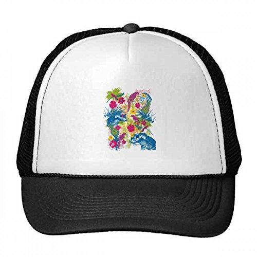 DIYthinker Tropical Art Parrot Bär Zebra Trucker-Mütze Baseballmütze Nylon Mütze Kühle Kind-Hut-Justierbare Kappe Geschenk Erwachsene