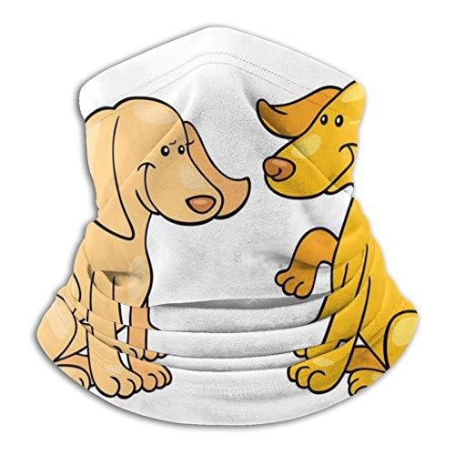 Towel&bag Yellow Dogs - Bufanda unisex de microfibra para cuello