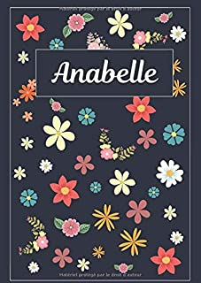 Anabelle: Agenda Personnalisé   Journal   120 pages   A4   Blanc   Idées Cadeaux