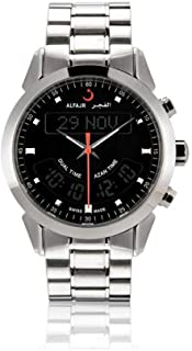 ساعة الفجر للرجال انالوج - رقمية سويسرية سوار من الستانلس ستيل WA-10S