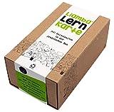 Lina - 500 flashcard con pratica, DIN A8, formato 7,4 x 5,2 cm, 190 g/mq, a righe, certificate FSC, scatola in cartone riciclato contenente delle schede, prodotto in Germania