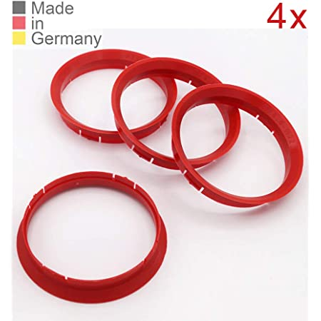 Konikon 4x Zentrierringe 76 0 X 72 6 Mm Rot Felgenringe Adapterringe Für Verschiedene Felgen Passend Für Bmw Mini Auto