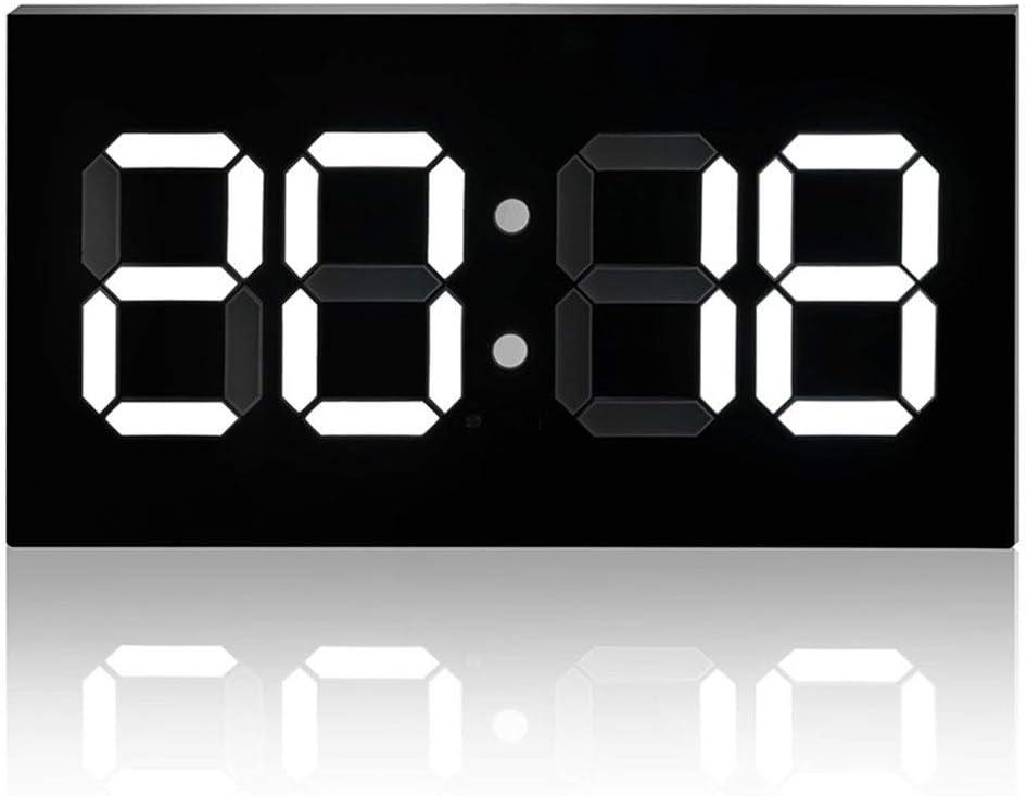 Reloj de Pared para Colgar, Los controles remotos digitales convexos blancos El reloj electrónico del calendario perpetuo para una visualización clara y un ajuste automático del brillo. , Reloj de Par