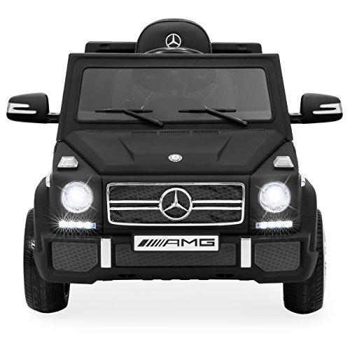 Best Choice Products 12V Kids Licensed Mercedes-Benz G65 SUV Ride On Car w/ Parent Control, Lights, AUX - Matte Black