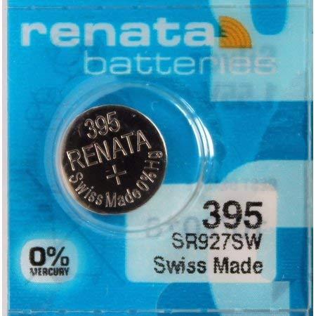 Renata Batteries 395 Button Cell Watch Battery, 5 Pcs