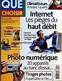 QUE CHOISIR [No 427] du 01/06/2005 - CLIMATISEURS - INTERNET - LES PIEGES DU HAUT DEBIT - PHOTO NUMERIQUE - TIRAGES...