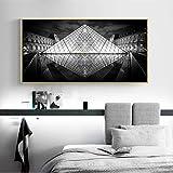 MKGLU Schwarz Weiß Geometrische Gebäude Wandkunst