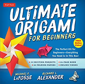 Ultimate Origami for Beginners Kit  The Perfect Kit for Beginners-Everything you Need is in This Box!  Kit Includes Origami Book 19 Projects 62 Origami Papers & Video Instructions