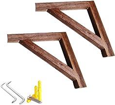 Rustieke massief houten driehoek plank beugels, drijvende hoek plank steunen, woonkamer keuken muur decoratie rekken beuge...