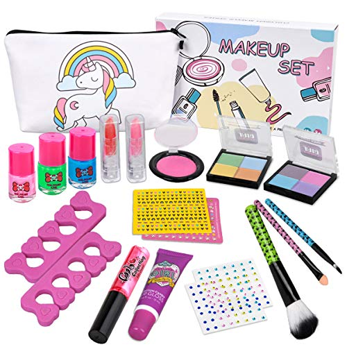 Kids Makeup Kit for Girls - Real Kids Cosmetics Make Up Set with Cute