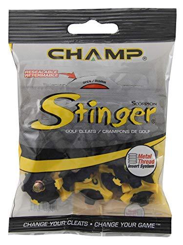 CHAMP - Golf Spikes in Yellow/ Black, Größe Disk of 1 set