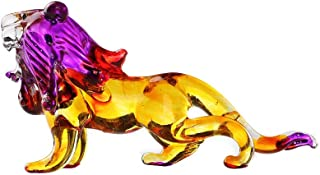 Danusorn Chi Hand Blown Art Glass, The Lion Miniature Animals Collection, Dollhouse Miniatures,The Lion Art Glass Blown(No 9)