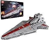 MOMAMO Super Star Cruiser Model Building Set, Mold King 21005 Nave Espacial UCS Ciencia ficción Grande, Republic Attack Cruiser, 6685+ Piezas Bloques construcción compatibles con Lego Star Wars