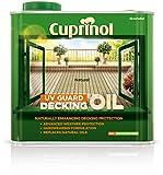 Cuprinol 5122410 Uv Guard Decking Oil Exterior Woodcare, Natural 2.5L