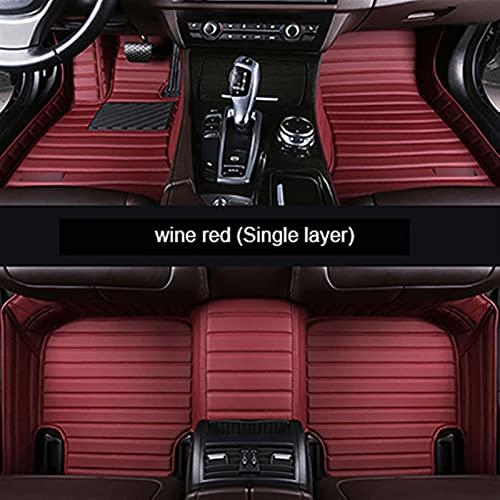 IVNGRI Alfombrilla de cuero para piso de coche para Mazda 2 3 para 5 6 para 8 CX-4 para CX-5 CX-7 para CX-9 Atenza Tribute Accesorios de coche Stying (color rojo vino)