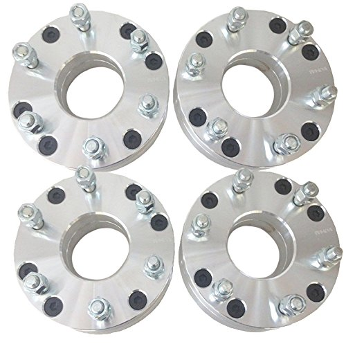 """Hex Autoparts 4pcs 2"""" Convert 5x4.75 to 6x5.5 Wheel Spacers Adapter 12x1.5 Thread Pitch"""