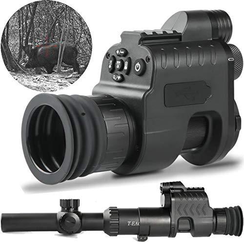 MUJING Infrarot Nachtsichtgerät Kamera WiFi APP Jagd Nachtsichtgerät Zielfernrohr Leuchtpunktvisier IR Nachtsichtoptik 21mm Schiene