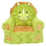 Soft Landing   Sweet Seats   Premium Character Chair with Carrying Handle & Side Pockets – Triceratops Dinosaur