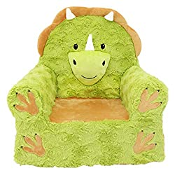 1. Soft Landing Triceratops Dinosaur Chair with Carrying Handle and Side Pockets