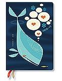 Paperblanks - Tracy Walkers Wal und Freund - Kalender 18 Monate 01.07.2018 bis 31.12.2019 Midi Wochenüberblick Horizontal - deutschsprachige Ausgabe