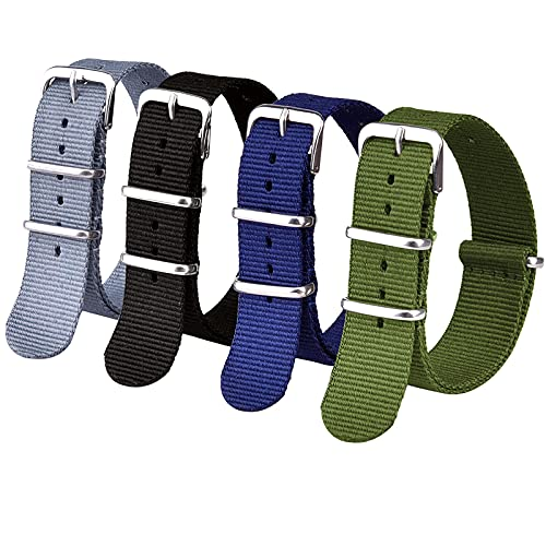 Ritche 20mm Nylon Strap Nylon Watch Band Compatible with Timex Weekender Watch for Men Women (4 Packs)