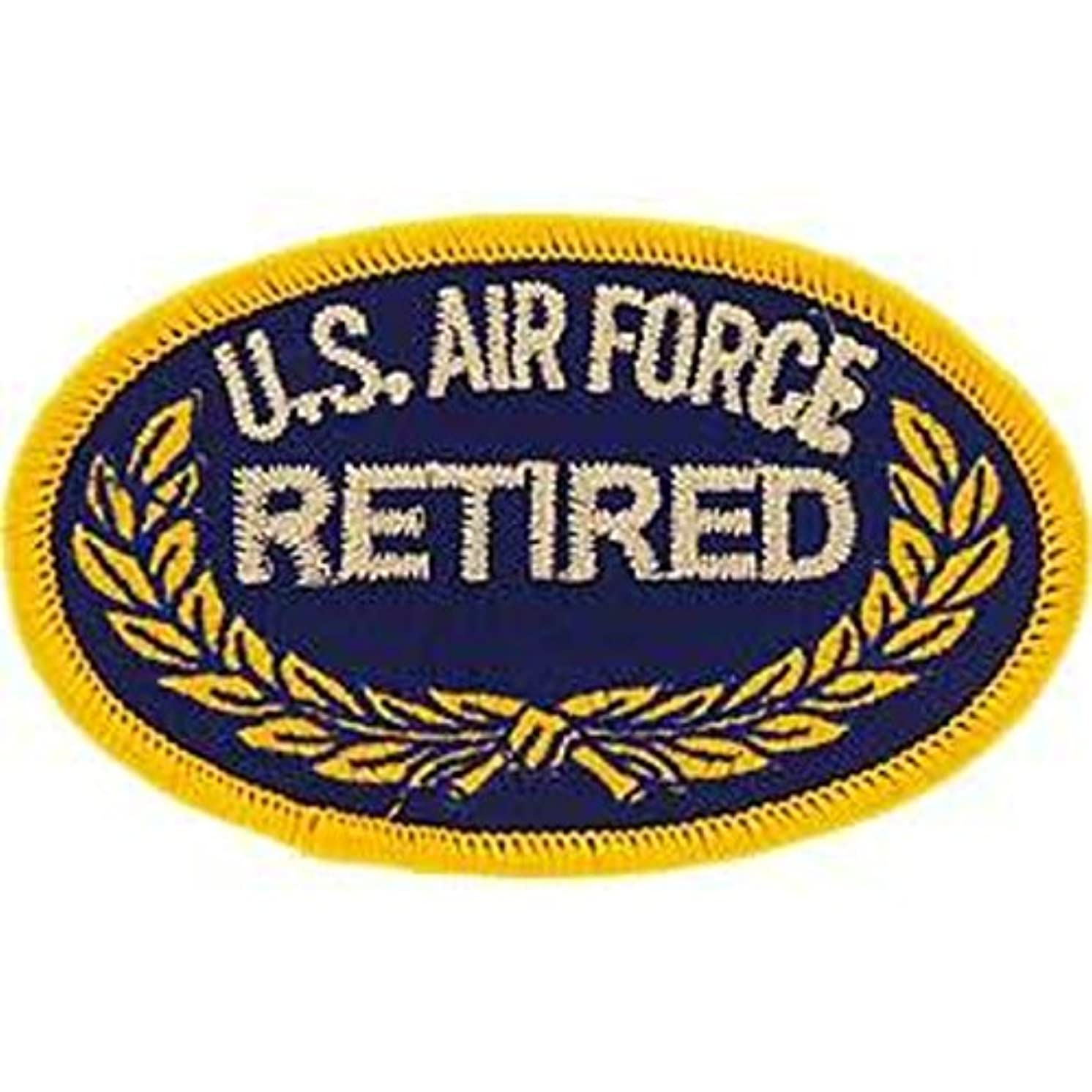 EagleEmblems PM0106 Patch-USAF,Oval,Retired (3.5'')