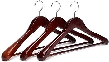 3 Pack JS HANGER Coat Hangers Extra Wide Rounded Shoulder