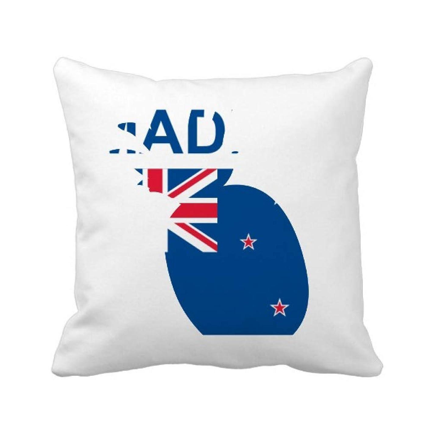 ぼかしブロック練習ニュージーランドの国が好きで パイナップル枕カバー正方形を投げる 50cm x 50cm