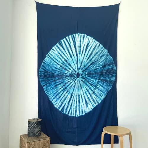 MOMOMUS Tapiz Shibori Tie Dye - 100% Algodón, Grande, Multiuso - Tapices...