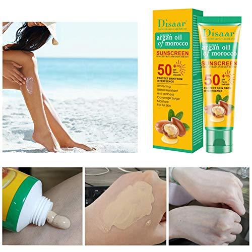 iYoung Crema de protección Solar Profesional SPF 50, blanqueamiento hidratante Control de Aceite antienvejecimiento Crema de protección Solar Cuidado de la Piel