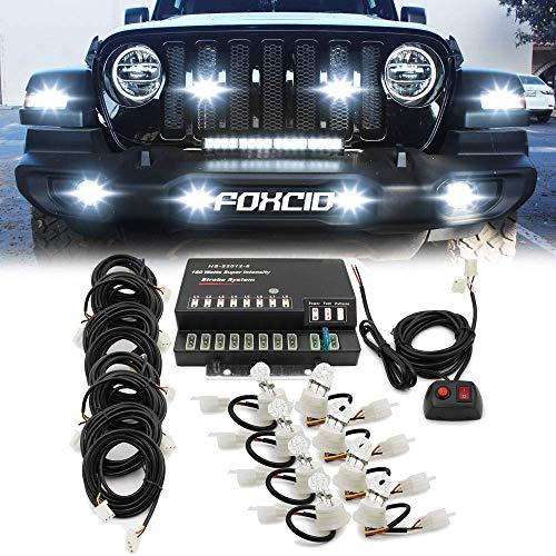 FOXCID Hide A Way 160 Watt HID Emergency Hazard Warning Headlight Strobe Light Kit
