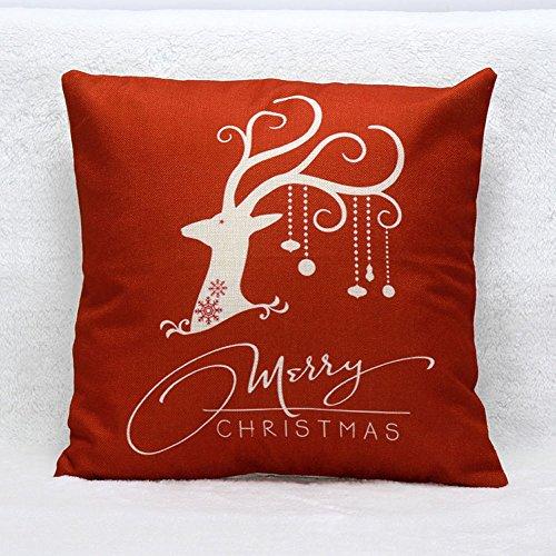 Venzhe vintage Christmas Deer Pillow case Bed casa decorativo Cuscino festival federa 45,7x 45,7cm