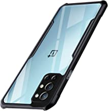 TheGiftKart Shockproof Crystal Clear Back Cover Case for OnePlus 9R 360 Degree Protection Protective Design Transparent Back Cover for OnePlus 9R Black Bumper