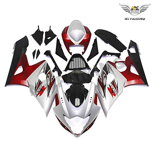 NT FAIRING Pearl White Red Injection Mold Fairing kits Fit for Suzuki 2005 2006 GSXR 1000 K5 05 06 GSX-R1000 Aftermarket Painted ABS Plastic Motorcycle Bodywork