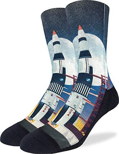 Good Luck Sock Men's Saturn V Rocket Launch Socks, Adult
