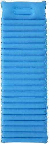 Rcd Lit d'air Auto-gonflant Tapis de lit Simple Ultra-léger épais 8.5cm Matelas de Camping Gonflable Tapis de Petit Pain Confortables pour randonnée hamac Tente et randonnée (Couleur   Bleu)