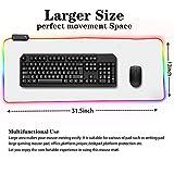 White Gaming Mouse Pad RGB