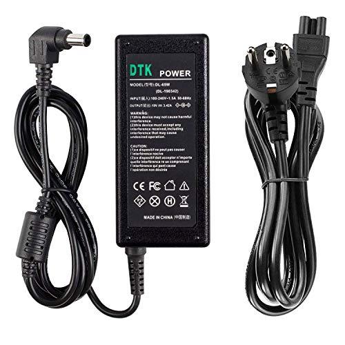 DTK Cargadores y Adaptadores para monitor LG LCD LED HD TV pantalla plana IPS236V IPS236-PN Fuente de alimentación 65W 19V 3,42A Connector:6,5 x 4,4 mm