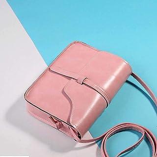 Wultia - Bag WOMEM Fashion Vintage Purse Bag Leather Cross Body Shoulder Messenger Bag HOT Pink