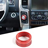 Hoolcar Red Gear Shift Knob Cover ABS Sticker Trim for 2013-2017 Dodge Ram (Not fit Rebel Modle)