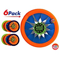 """JA-RU Soft Frisbee Throwing Disc Splash Fun Aqua Flyer 12"""" (6 Units Assorted) Flying Discs for Kids & Adult Toys. Safe Easy and Professional. Plus 1 Bouncy Ball. 1031-6p"""