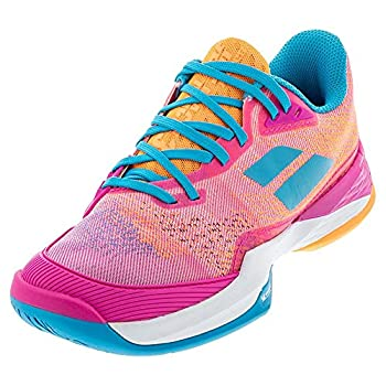 Babolat Women s Jet Mach 3 All Court Tennis Shoes Hot Pink  US Size 8