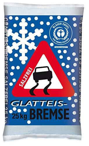 Glatteisbremse Streugut Winter Streugranulat 25 kg Streusalz Alternativen Umweltschonend + Tierfreundlich Wiederverwendbar
