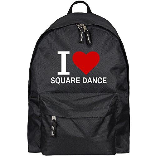 Rucksack Classic I Love Square Dance schwarz - Lustig Witzig Sprüche Party Tasche