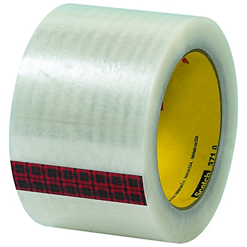 "3M 371 Carton Sealing Tape, 1.9 Mil, 3"" x 110 yds, Clear, 24/Case, 3M Stock# 7100139450"