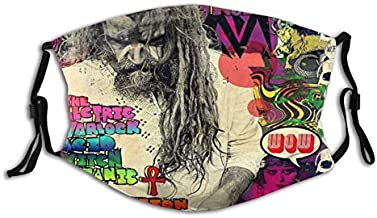 AdamBGeorge Rob Zombie The Electric Warlock Outdoor Bandanas,Dustproof Scarf,Face Cover,Decorative Masks,Mouth Guard,Balaclava,Neck Gaiter