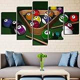 POLLKK 5 Pannelli Tela di Canapa Pittura Wall Art Home Decor Chicchi di caffè per Soggiorno Modern HD Stampa Macchina da caffè Immagine di Paesaggio